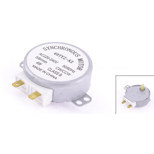 EWS Microwave Oven Turntable Synchronous Motor CW/CCW 4W 5/6RPM AC 220-240V
