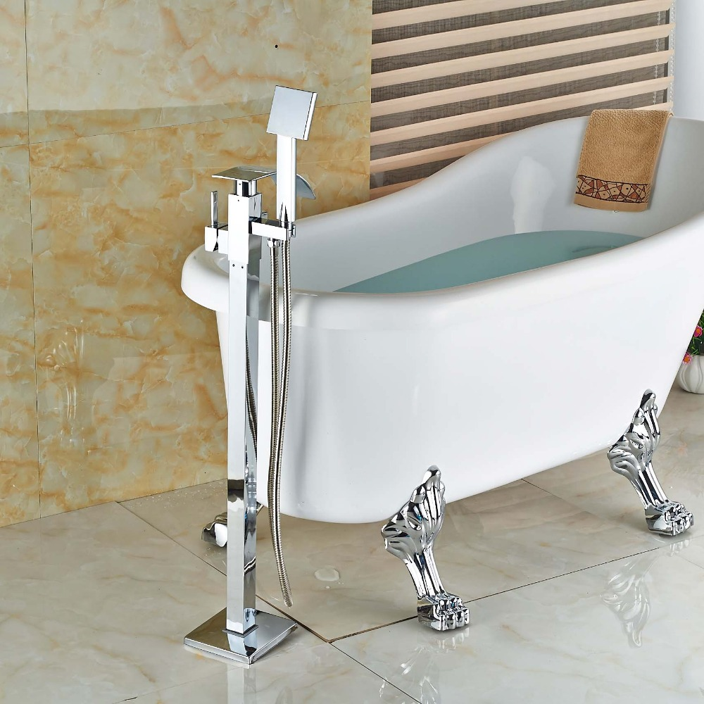 Free-Standing-Waterfall-Tub-Mixer-Taps-with-ABS-Black-Handshower-Chrome-Brass