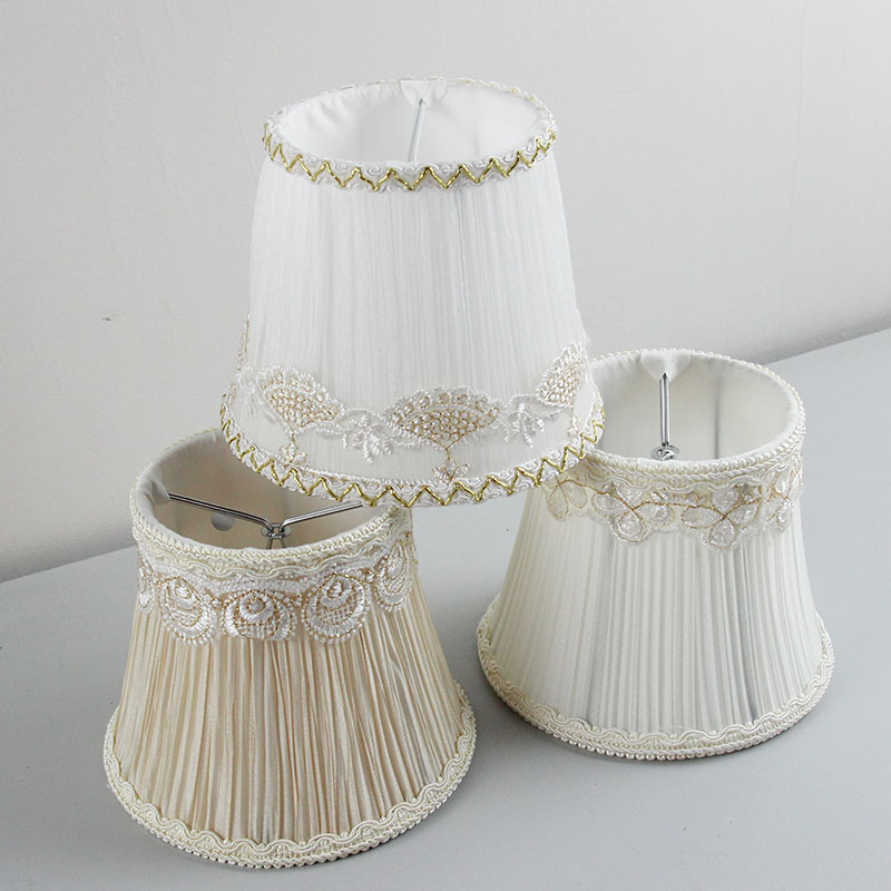 DIA 13.5cm/5.31inch High Quality Multiple Colour chandeliers lamp shades, Lace wall Lampshades for lamp, Clip on
