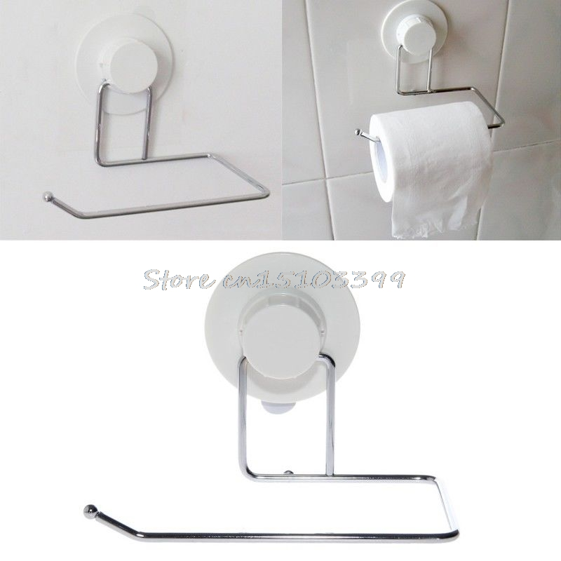 Toilet Paper Holder Bathroom Suction Hanger Tissue Rack Kitchen Towel Hook #G205M# Best Quality