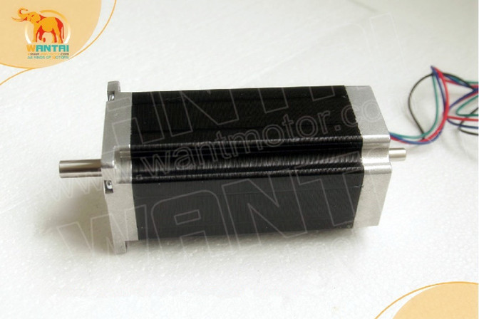 USA Free ship-Wantai 4 Axis Nema 23 Stepper Motor Dual Shaft 57BYGH115-003B, 428oz-in+Driver DQ542MA 4.2A CNC Router Plasma