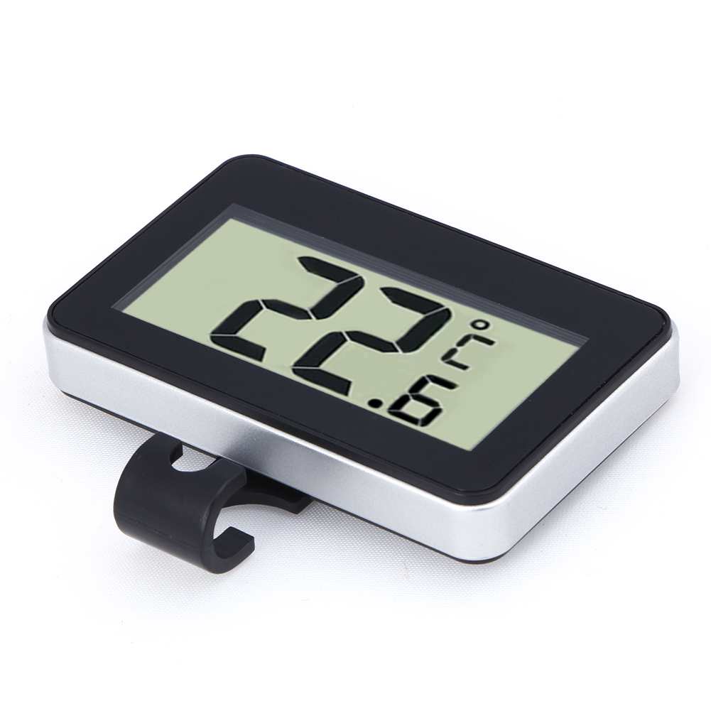 Digital LCD Thermometer Temperature Meter W/Magnet Hook for Home Office Room Kitchen Refrigerator Indoor Outdoor White/Black