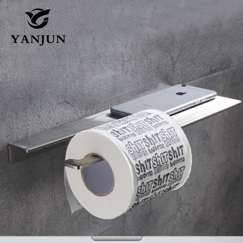 Yanjun  Single Roll  Bathroom Paper Tissue Holder  MULTI-USE Toilet Paper Hanger Mobile phone Holder Wall Mount  YJ-8870