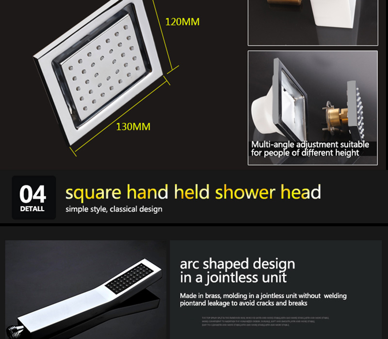 Embed Ceiling Rainfall Showers Set Massage Spray Led Electric Power Bathroom 5 Way Conceal Install Thermostatic Shower Faucets  (32)