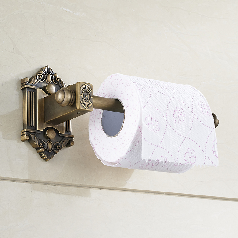 Antique Bathroom Lavatory Rolling Toilet Paper Holder Brass Toilet Roll Holder Wall Mount Bathroom Accessories