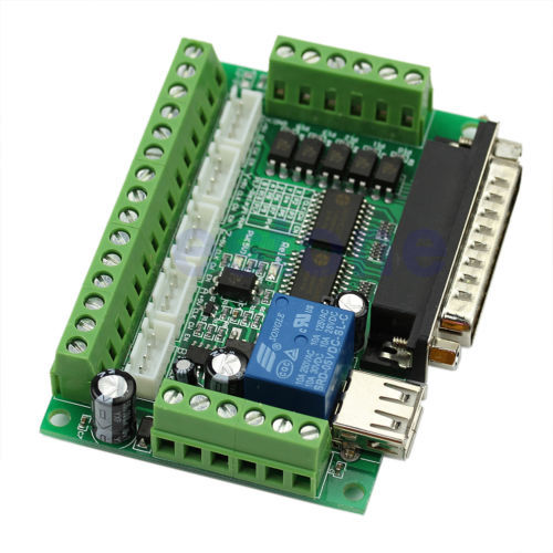 Board CNC MACH3 Interface 5 Axis With Optocoupler Adapter Stepper Motor Driver -Y103