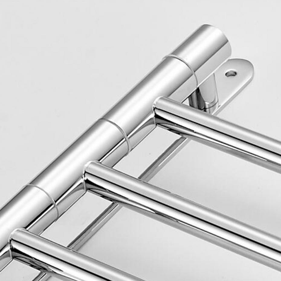 30cm Chrome Polished Toilet Towel Hanging With Hooks Bathroom Towel Rack Copper Movable Towel Barsbrass Towel Rack 4/3 Arms
