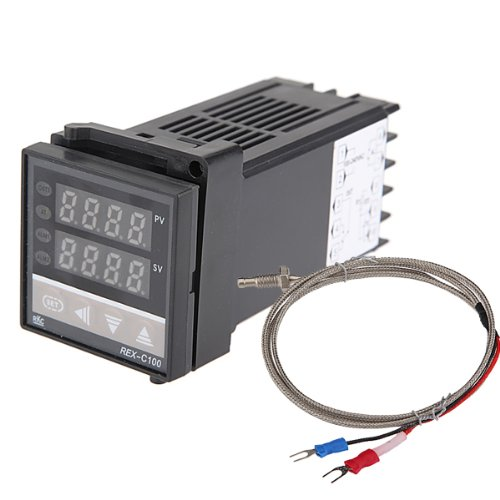 Dual Digital F / C PID Temperature Controller with K Thermocouple