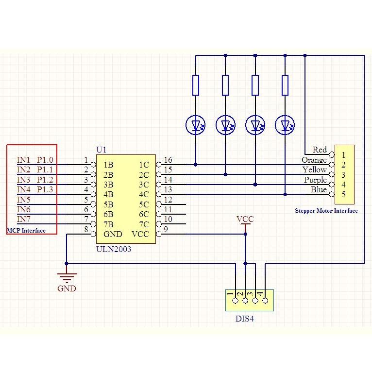 Akozon Motor Driver Board 5 pcs ULN2003 Driver Controller Board Stepping Module Electric Motor Control Module for 4 Phrase Stepper Motor