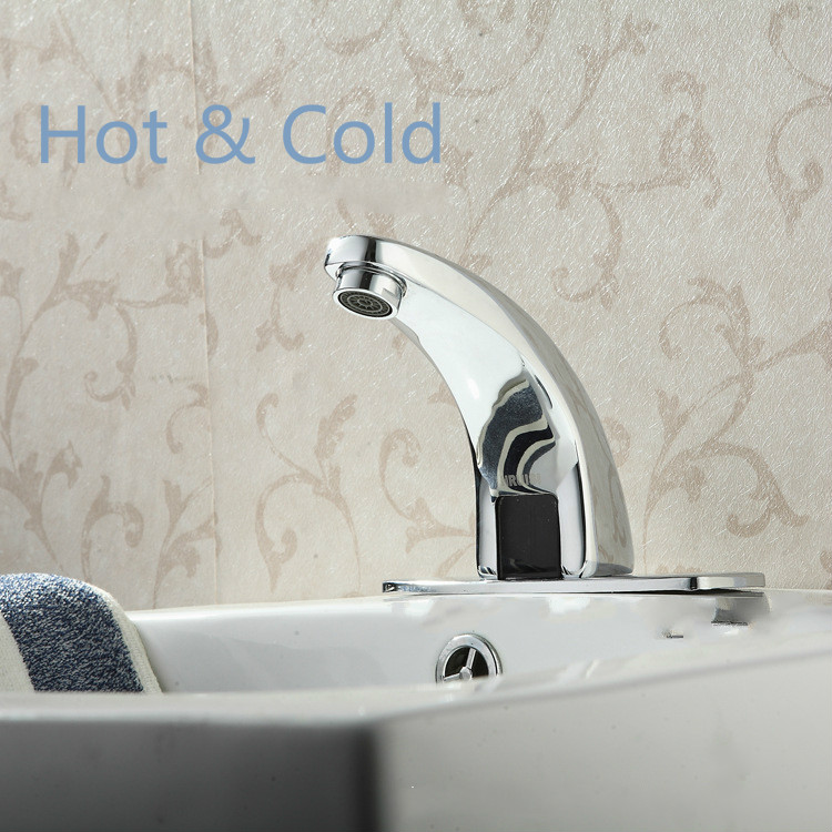 Automatic sensor tap  water saving Faucets Inductive Kitchen bathroom  cold and hot mixer tap