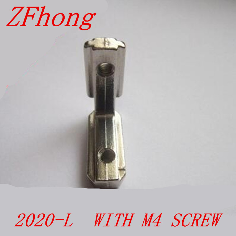 T Slot L Shape Type 90 Degree 2020 Aluminum Profile Accessories Inside Corner Connector Bracket with M5 Screw