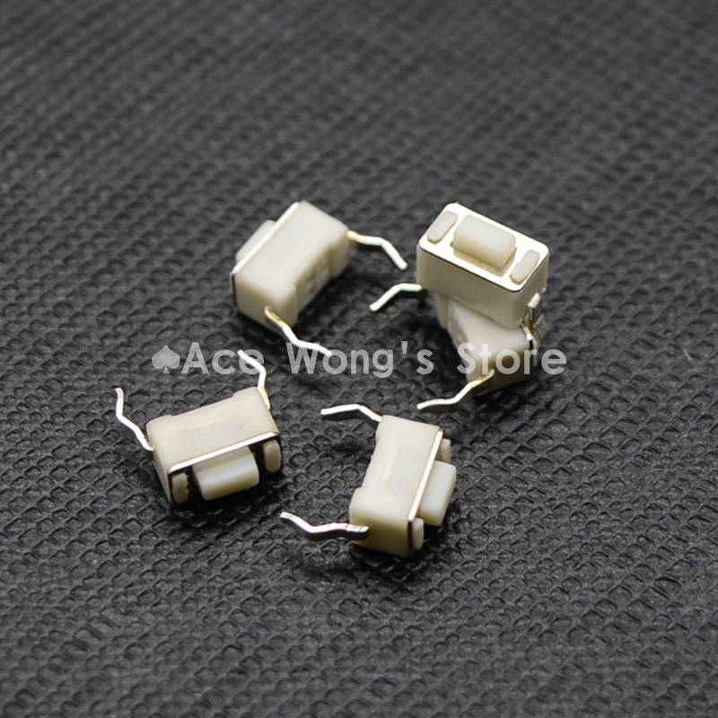 100PCS 2Pin DIP 3X6X4.3MM Tactile Tact Push Button Micro Switch Momentary