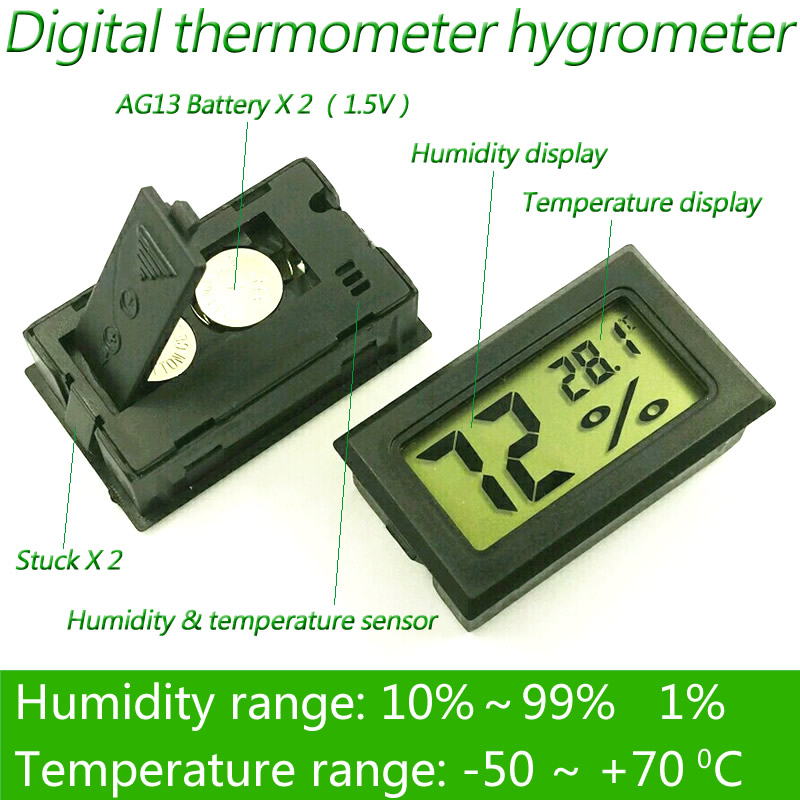 digital thermometer humidity electronic instruments hygrometer temperature gauge meter sensor thermostat outdoor weather station