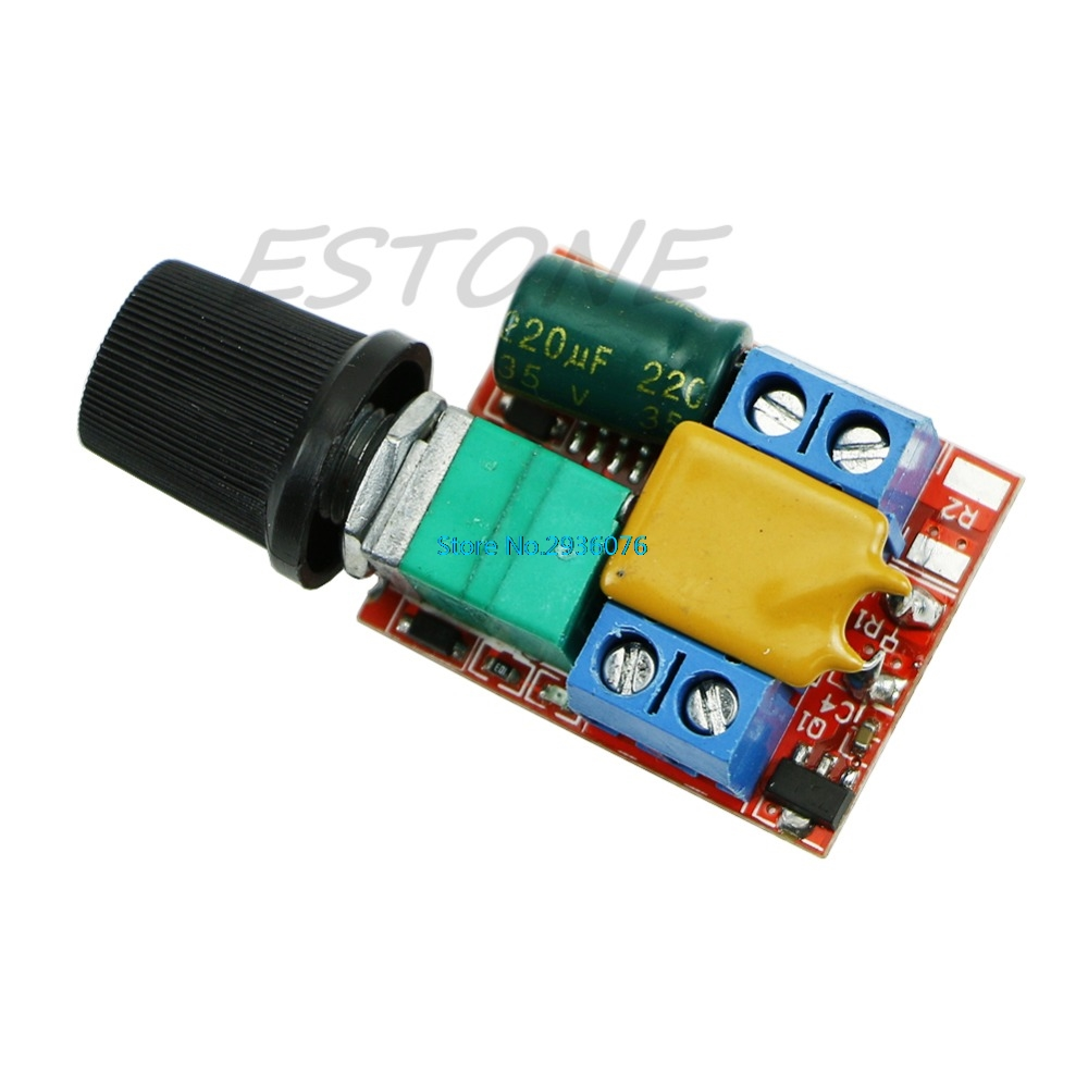 Mini DC Motor PWM Speed Controller 3V-35V Speed Control Switch LED Dimmer 5A MAR15_0