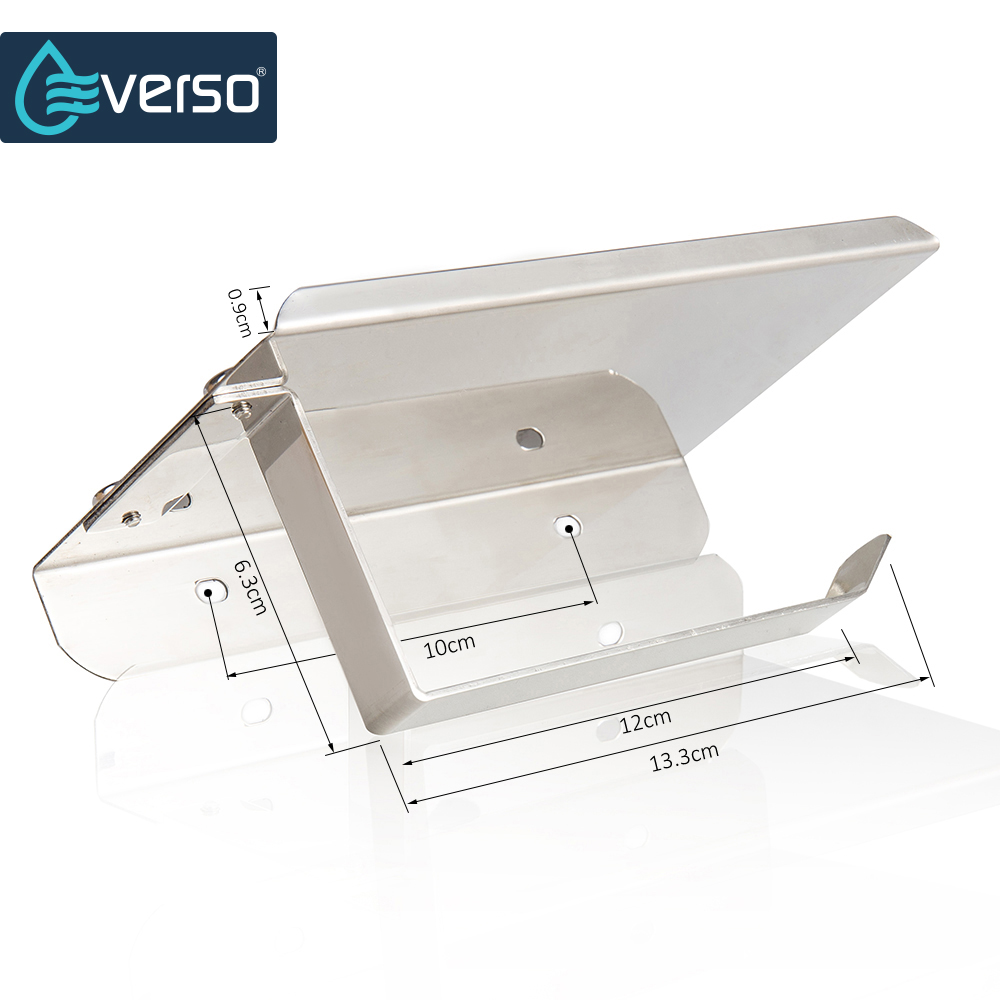 EVERSO Wall Mounted Toilet Paper Holder with Shelf Stainless Steel Toilet Roll Paper Holder Tissue Holder Bathroom Accessories