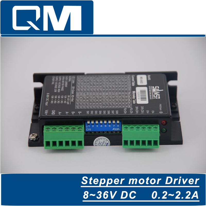 High-precision 2-phase stepper driver MD2422 fit NEMA 11-17 stepper motor 12-36VDC out 0.2A-2.2A cnc robot pump