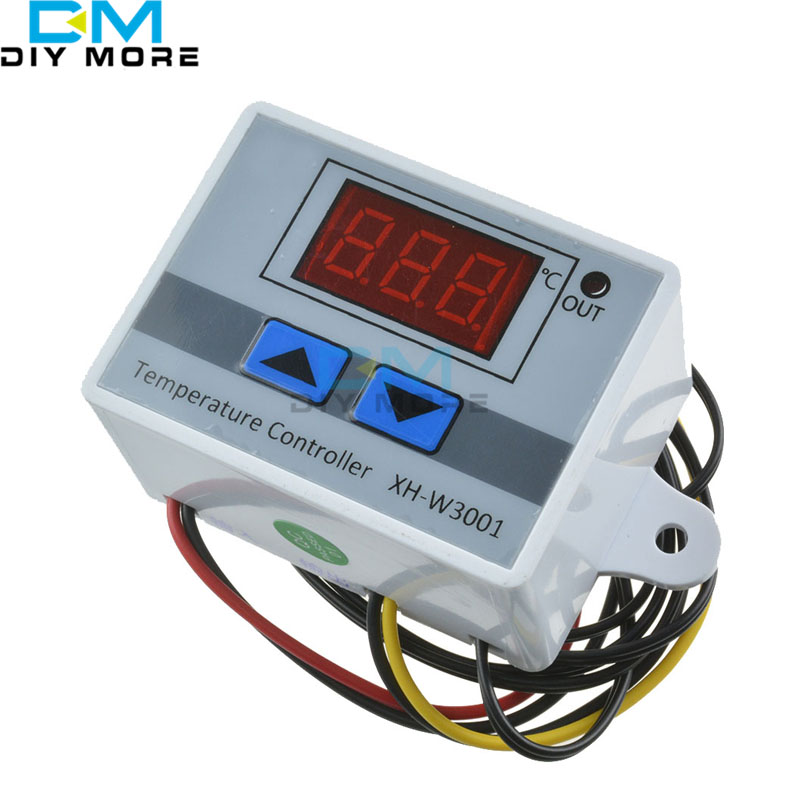 XH-W3001 W3001 Temperature Controller Digital LED Temperature Controller Thermometer Thermo Controller Switch Probe 220V