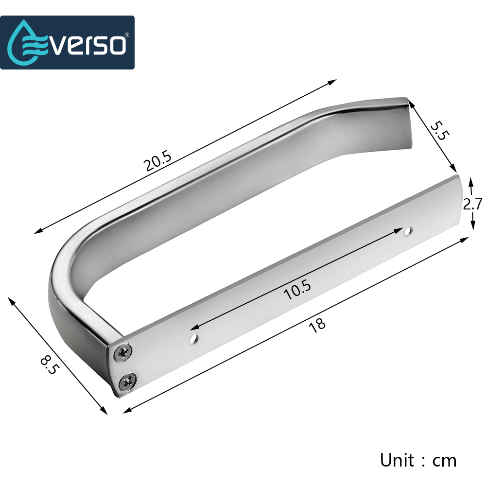 EVERSO Stainless Steel Toilet Paper Roll Holder Wc Paper Hold Toilet Roll Holder Wall Mounted by Nails Bathroom Accessory