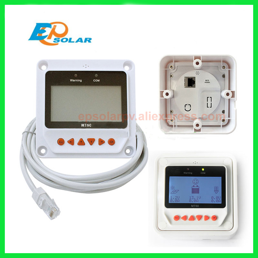 Solar Controller Remote Meter MT-50 for TRACER BN Series MPPT Tracer 2215BN 3215BN 4215BN itracer6415ND VS3024BN EPsolar MT50