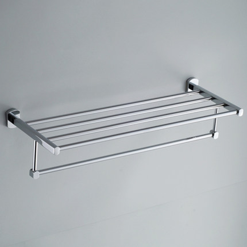 Xogolo Copper Polished Chrome Double Layer Bathroom Towel Holder With Bars New Arrival Towel Rack Good Quality