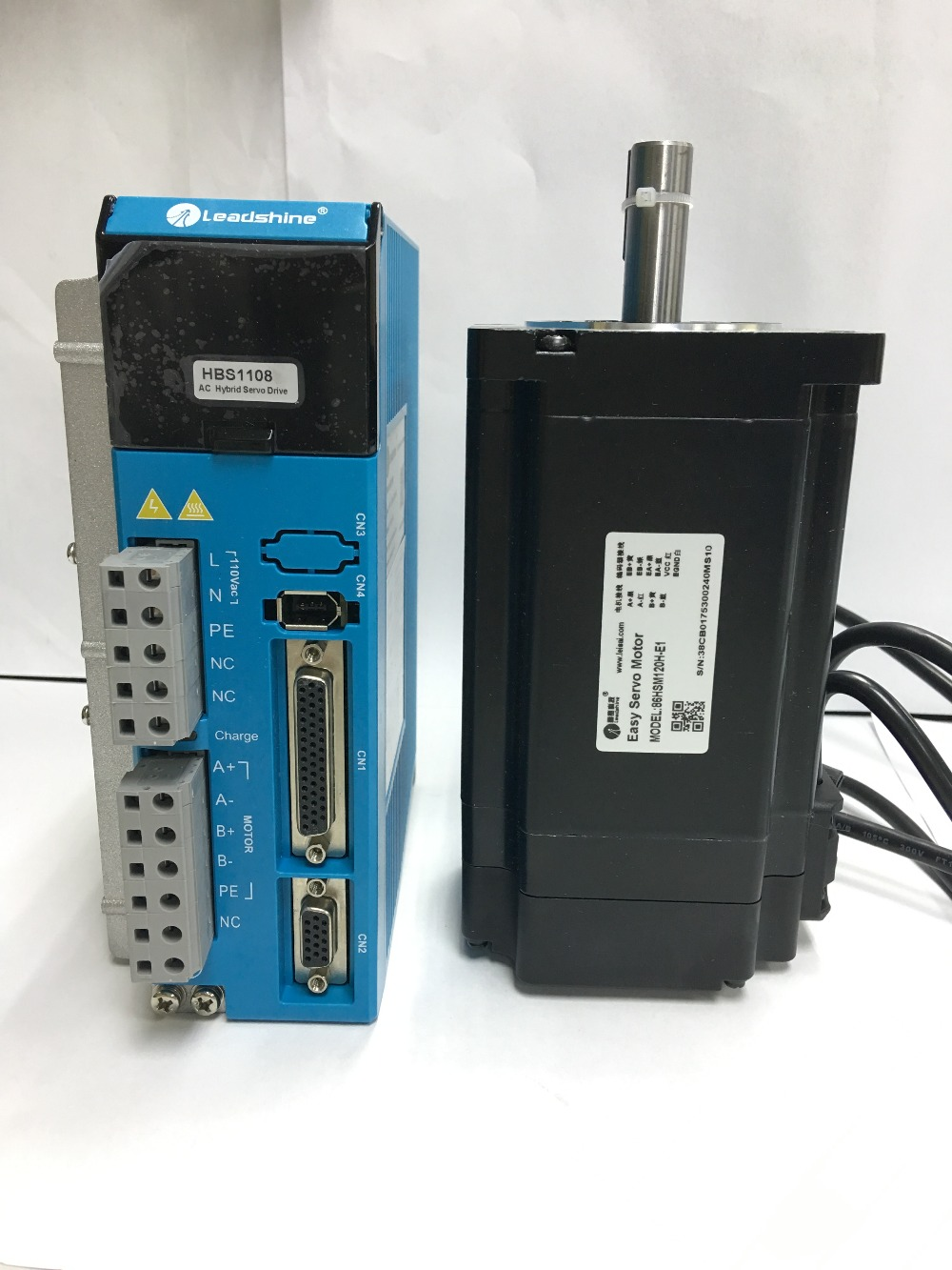 Leadshine easy servo drive HBS1108(ES-DH1208) and motor 86HSM120H-E1(ES-MH234120) for Engraving Machine