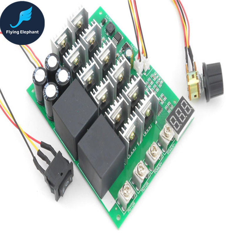 Digital Reversing DC current governor digital scale tachometer brush motor driver 12V24V36V 60A 100A