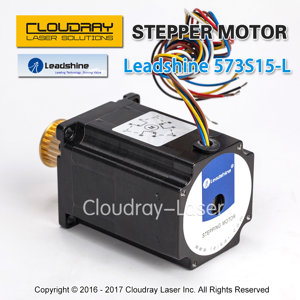 Cloudray Leadshine 3 phase Stepper Motor 573S15-L NEMA23 24 Teeth 3M Timing Pulley for CO2 Laser Engraving Cutting Machine