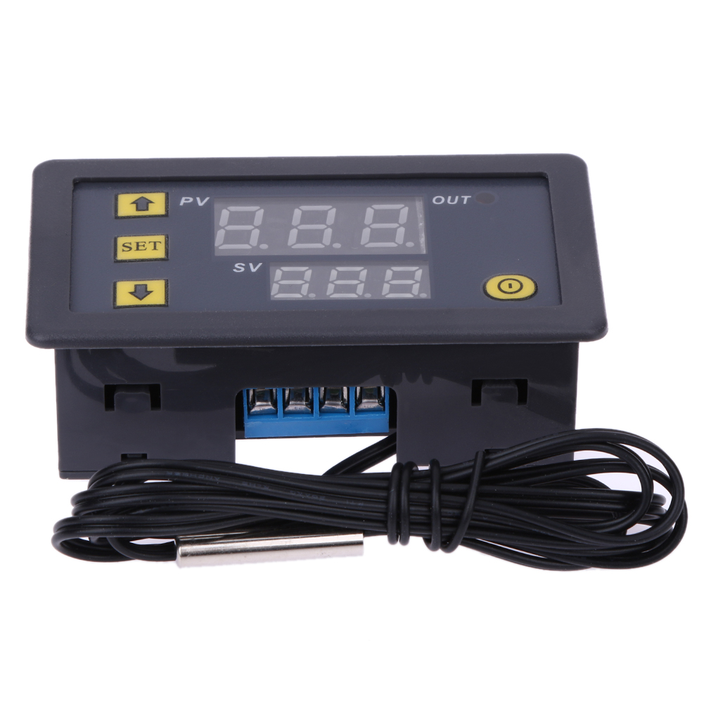 W3230 20A DC12V Digital Temperature Controller Temperature Regulator Data Save Red And Blue Display -55-120 Degree