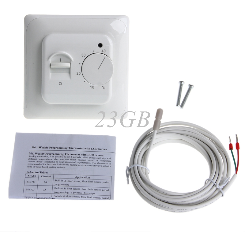 2017 Floor Heating Thermostat Air Condition Temperature Controller Switch 16A 220V MAR21_15