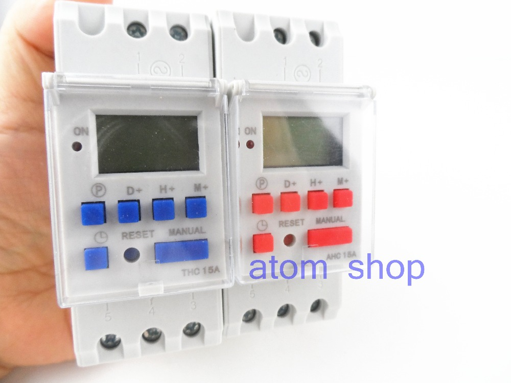 thc15a AHC15A Din rail timer relay time switches weekly programmble electronic TIME SWITCH 220V  bell ring device