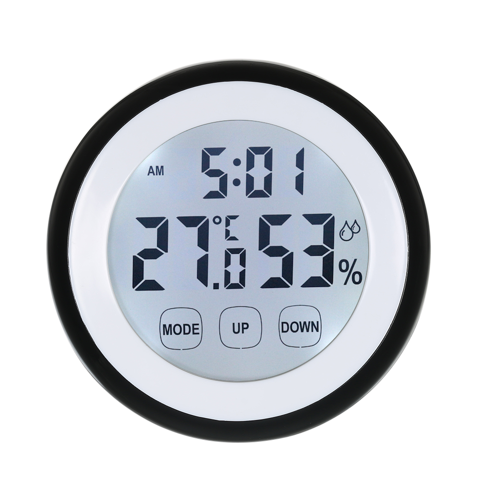 Digital Thermometer Hygrometer Temperature Humidity Meter Alarm Clock Touch Key higrometre termometro digitale thermometr