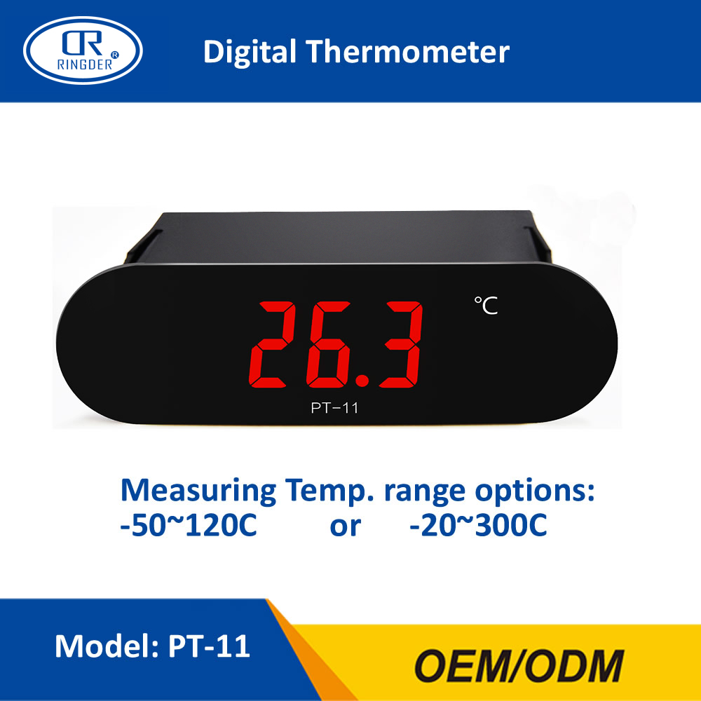 RINGDER PT-11 -50~120C -20~300C All Purpose Digital High Temperature Thermometer Meter Gauge Indicator with 2M NTC Sensor Wire
