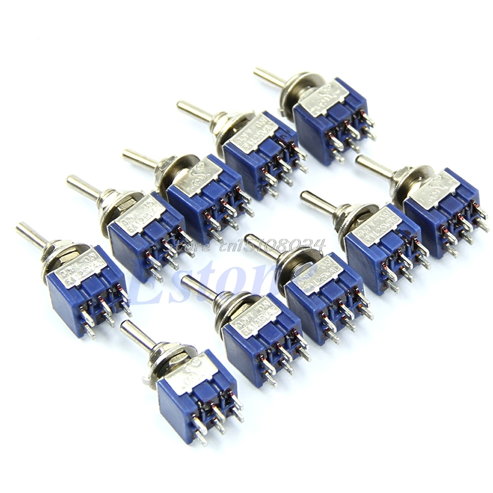 5Pcs/lot  6-Pin DPDT ON-ON Mini Toggle Switch 6A 125VAC Mini Switches #S018Y# High Quality