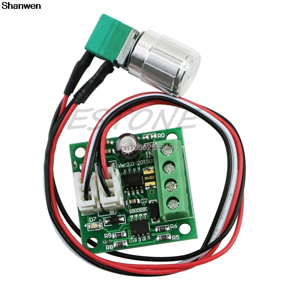Mini 1.8-15V 2A Hi-Q Pulse Width PWM DC Motor Speed Regulator Controller Switch
