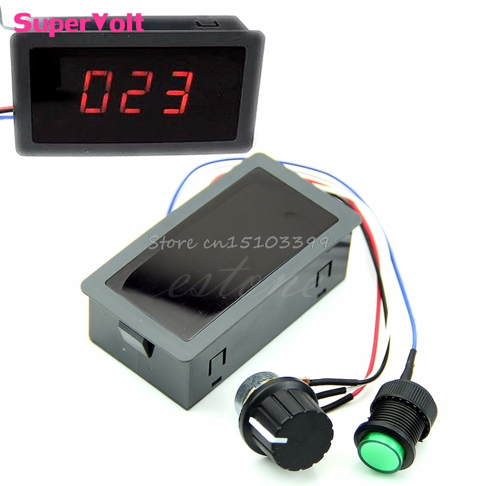 Motor PWM Speed Controller DC 6-30V 12V 24V Max 8A With Digital Display & Switch #G205M# Best Quality