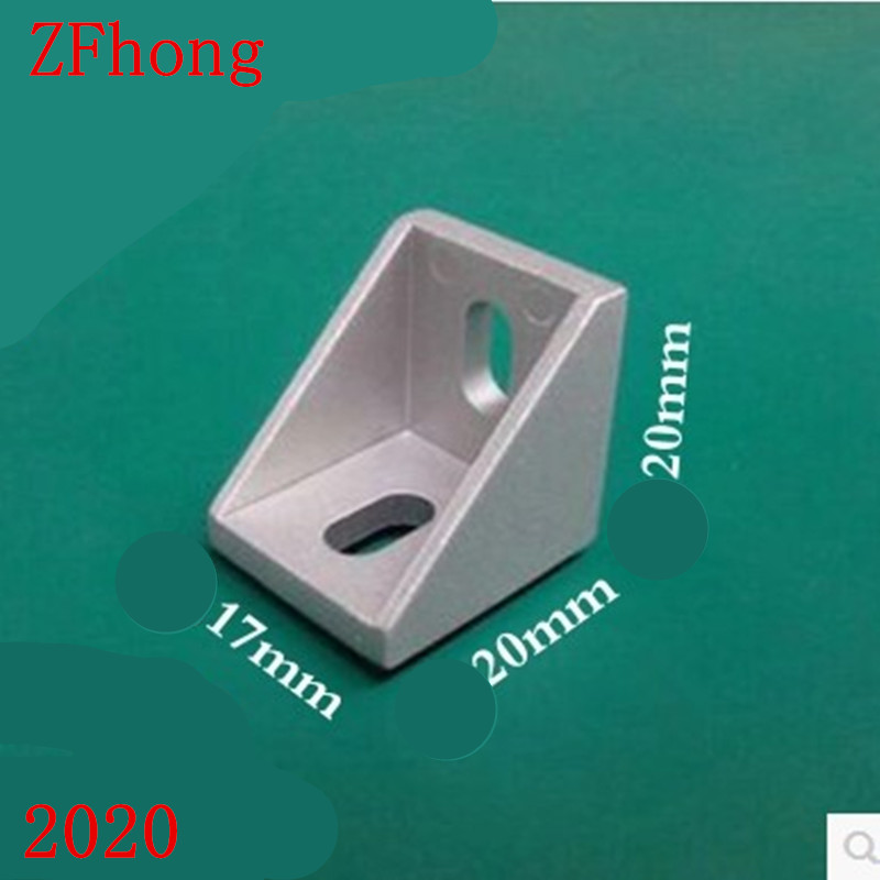 20PCS/LOT 2020 Corner Fitting Angle 20 x 20mm Decorative Brackets Aluminum Profile Accessories L Connector