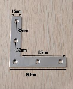 Stainless steel Fixed furniture Corner Brackets L-type Connection accessories angle iron thick:1.5mm