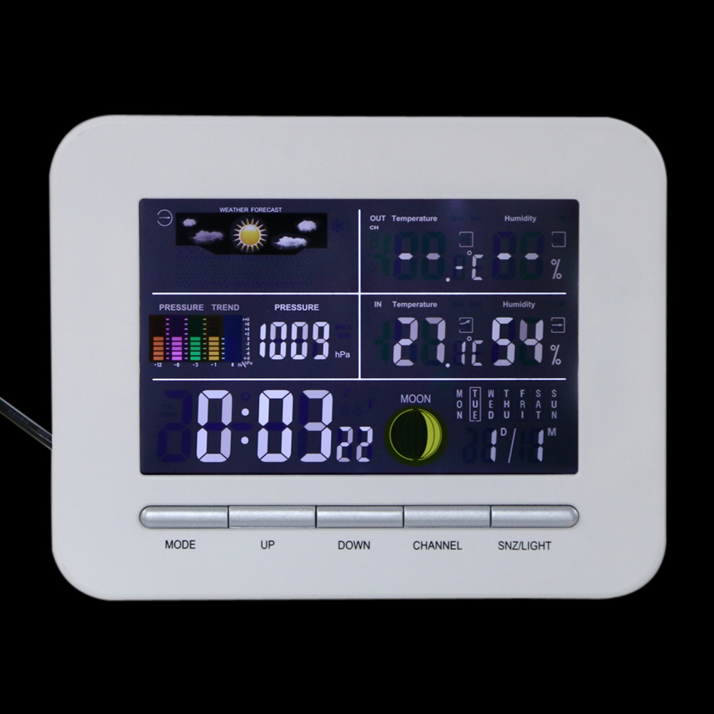 Digital Weather Wireless Station Indoor Outdoor Wather Station Outside Professional Thermometer Humidity LCD Display
