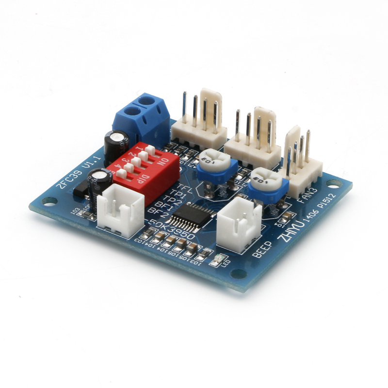 12V PWM CPU PC Fan Temperature Control Speed Controller Module High-Temp Alarm