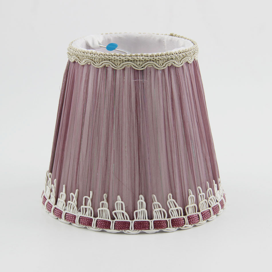 DIA 12.5cm/4.92 inch Home Collection Romantic Style Shade, Mauve Color Mini Lampshades,Clip On