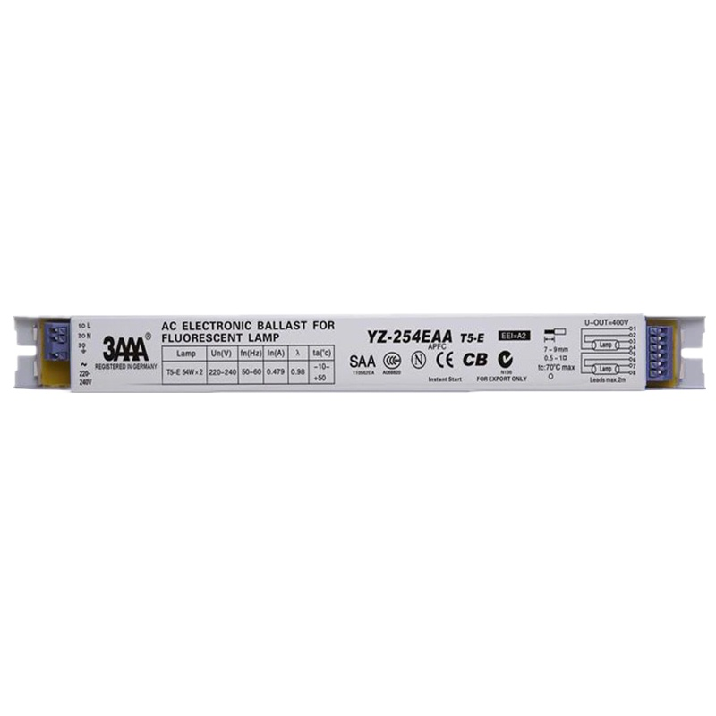 3AAA YZ-254EAA T5-E 220-240V 2*54W T5 Electronic Ballasts For T5 HO Tube Fluorescent Lamp Aquarium Lamp High Quality Rectifier