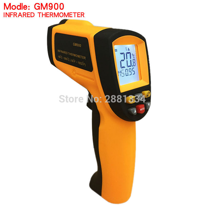 GM900 Thermometer Digital IR Laster Infrared Temperature Meter Non-contact LCD Gun Style Handheld -50-900C -58-1652F Pyrometer (1)