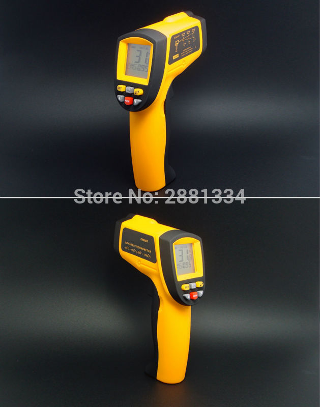GM900 Thermometer Digital IR Laster Infrared Temperature Meter Non-contact LCD Gun Style Handheld -50-900C -58-1652F Pyrometer (2)
