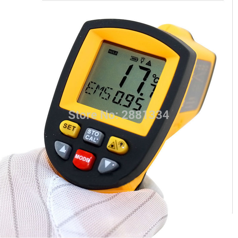 GM900 Thermometer Digital IR Laster Infrared Temperature Meter Non-contact LCD Gun Style Handheld -50-900C -58-1652F Pyrometer (5)