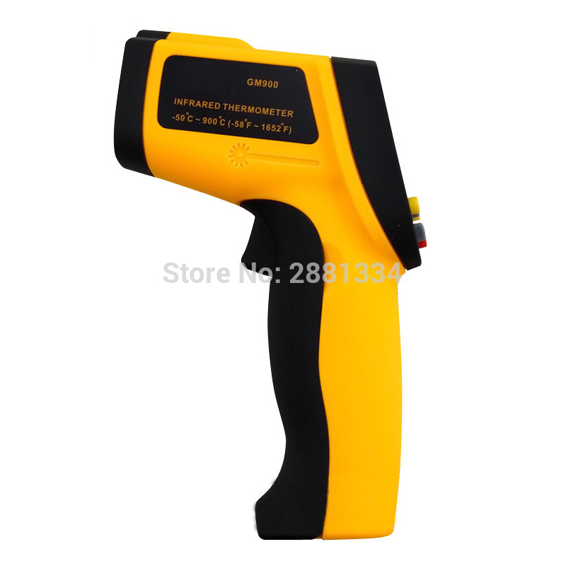 GM900 Thermometer Digital IR Laster Infrared Temperature Meter Non-contact LCD Gun Style Handheld Pyrometer without retail box