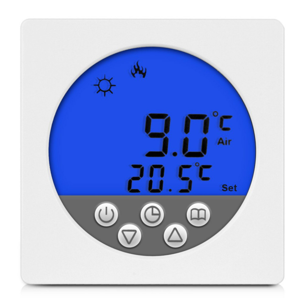 BYC15 H3 LCD Display Thermostat Digital Thermostat Temperature Controller Blue Backlight Underfloor Heating Thermoregulator Tool