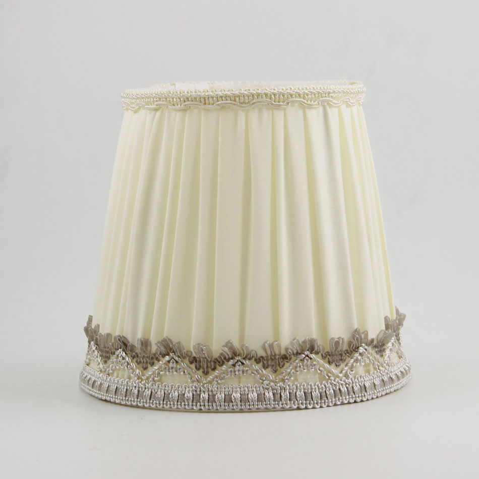 DIA 15.5cm/ 6.10 inch Moroccan  Exotic Lampshade, Off White Color Fabric lamp shade for lamp, E14(Hole 3cm)