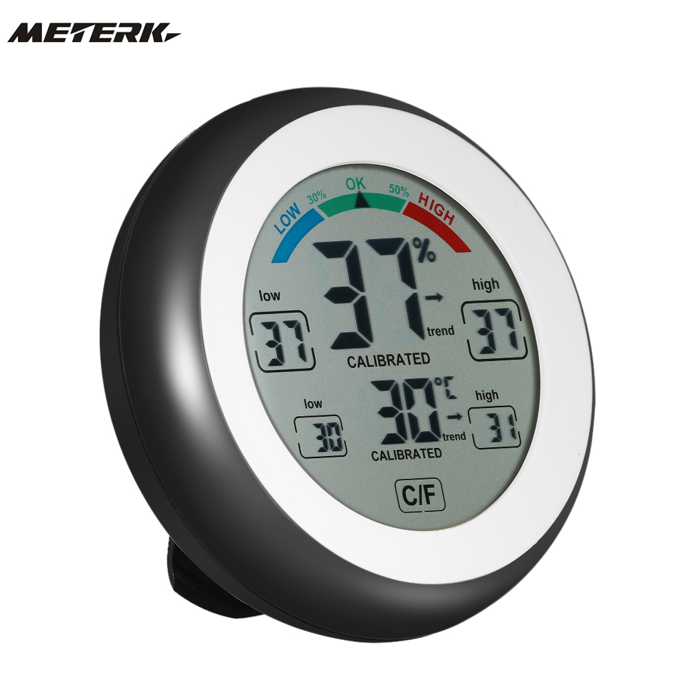Digital Thermometer Hygrometer Temperature Humidity Meter Max Min Value Trend Display