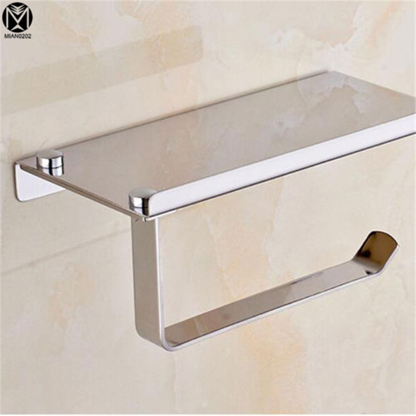 Bathroom Simple style Stainless Steel Matte Neckel Brushed Finish Wall Mounted Toilet Paper Holder Bathroom Accessories
