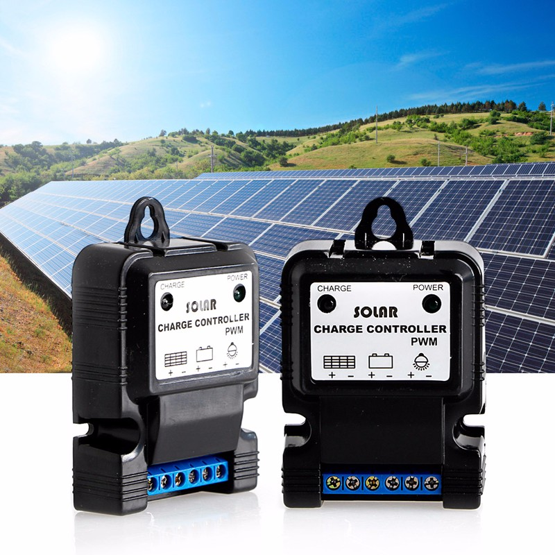 Solar Panel Charger Controllers Regulator Park Street Garden Light Plastic 3A 12V Controller